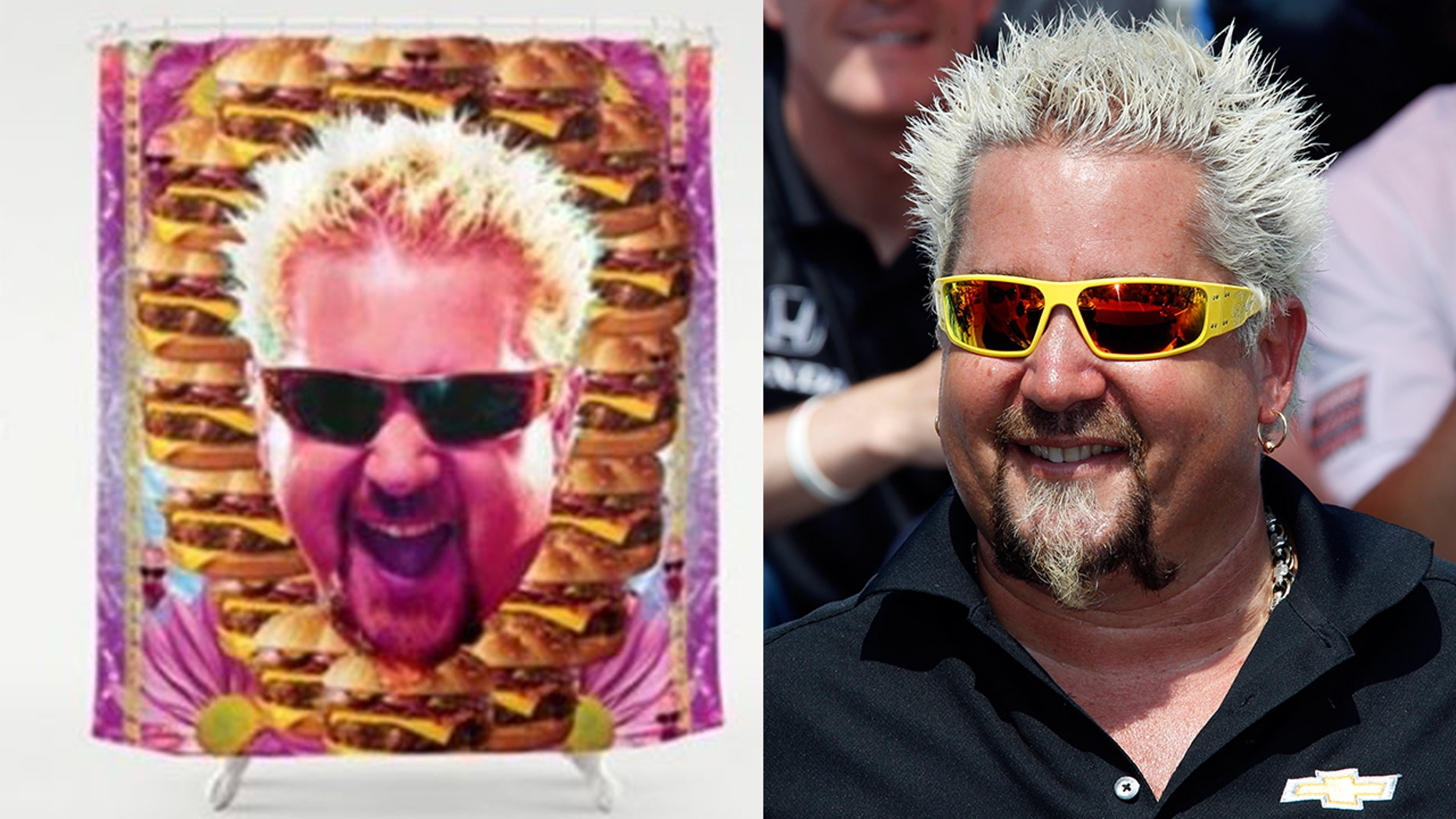 The mayor of Flavortown now comes in a shower curtain, as well as a variety of other household items.