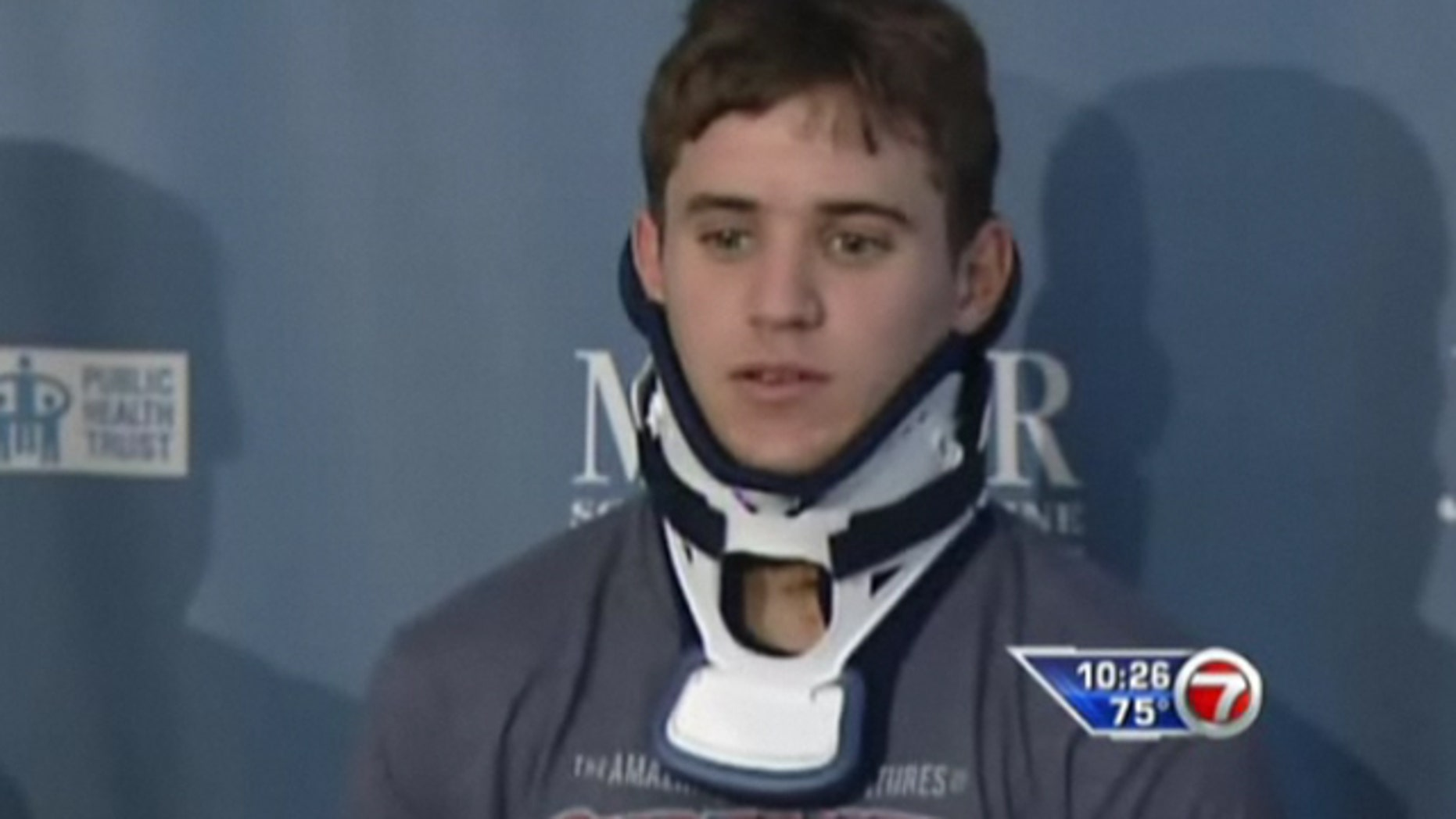 Jorge Valdez, 20, was almost paralyzed during a routine practice for tryouts for a Cirque du Soleil show in Las Vegas.