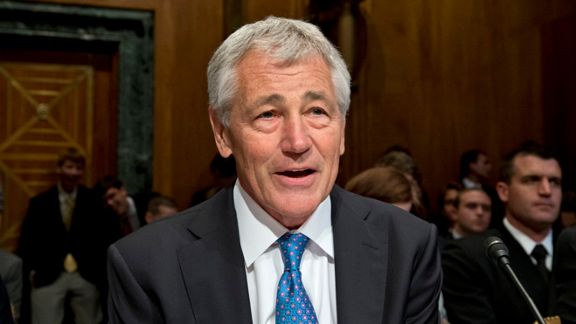 June 12, 2013: Defense Secretary Chuck Hagel testifies on Capitol Hill in Washington.