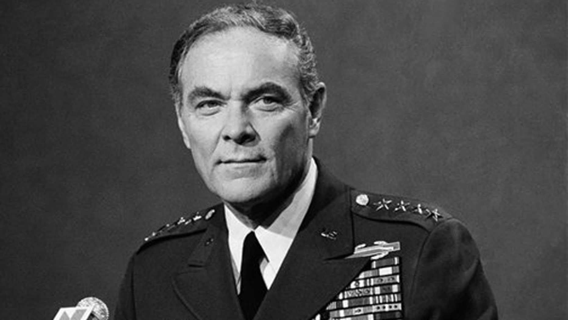 In this March 21, 1978 file photo, Gen. Alexander Haig, speaks at a Pentagon news conference on in Washington. (AP)
