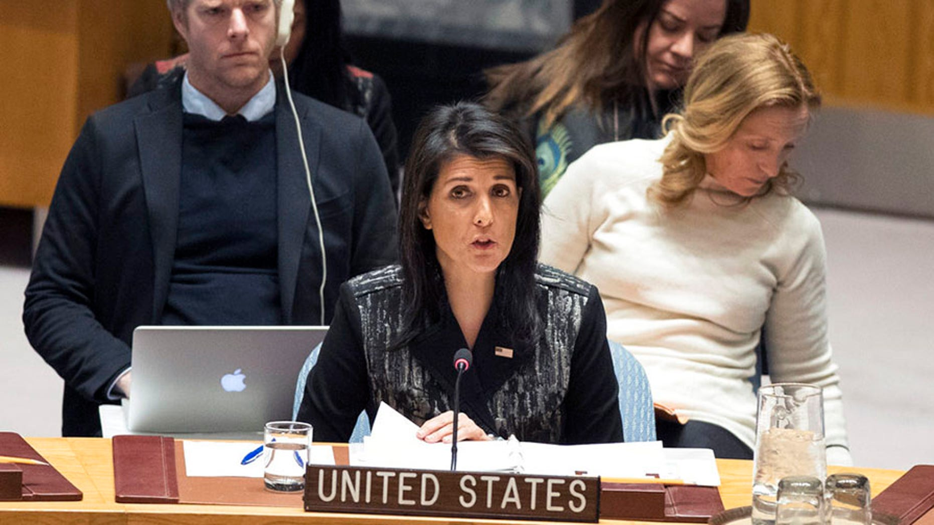 U.S. Ambassador to the U.N. Nikki Haley called for an emergency session of the U.N. Security Council over the Iran protests.
