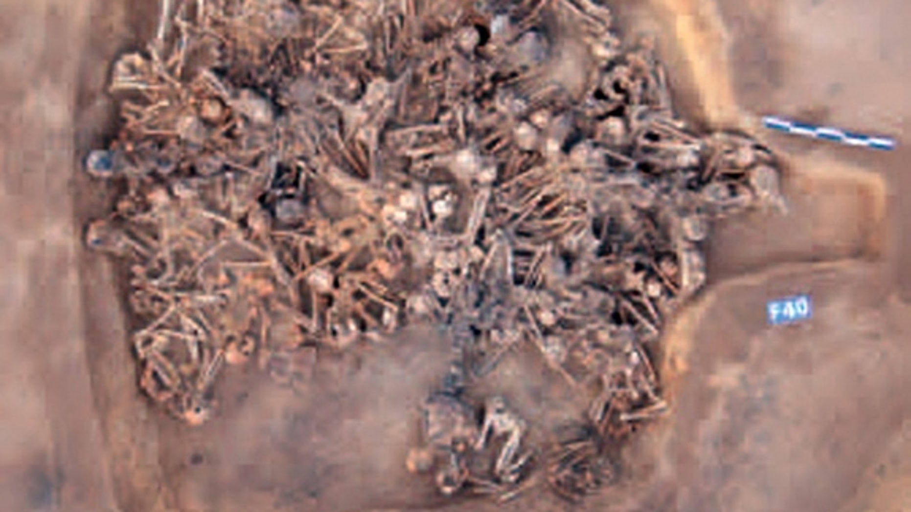 The 5,000-year-old house found in China was about 14 by 15 feet in size.