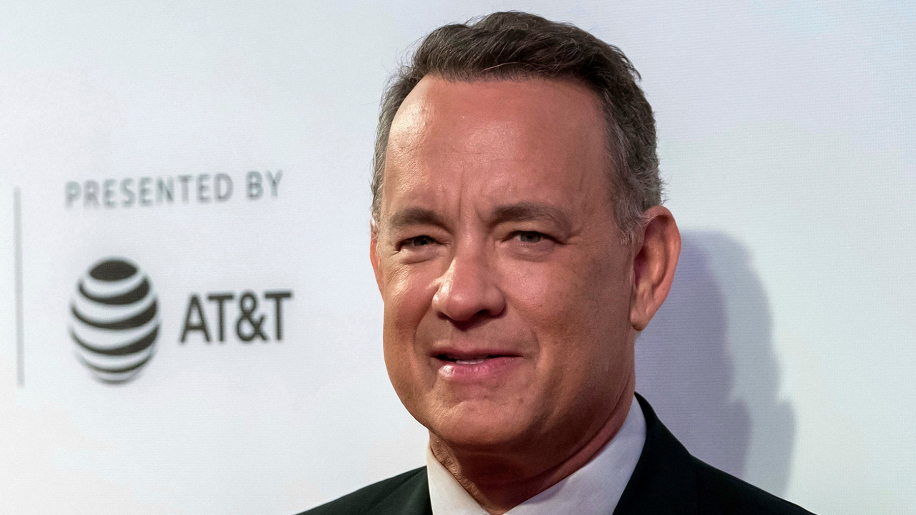 "Tom Hanks attends ""The Circle"" premiere during the 2017 Tribeca Film Festival in New York."