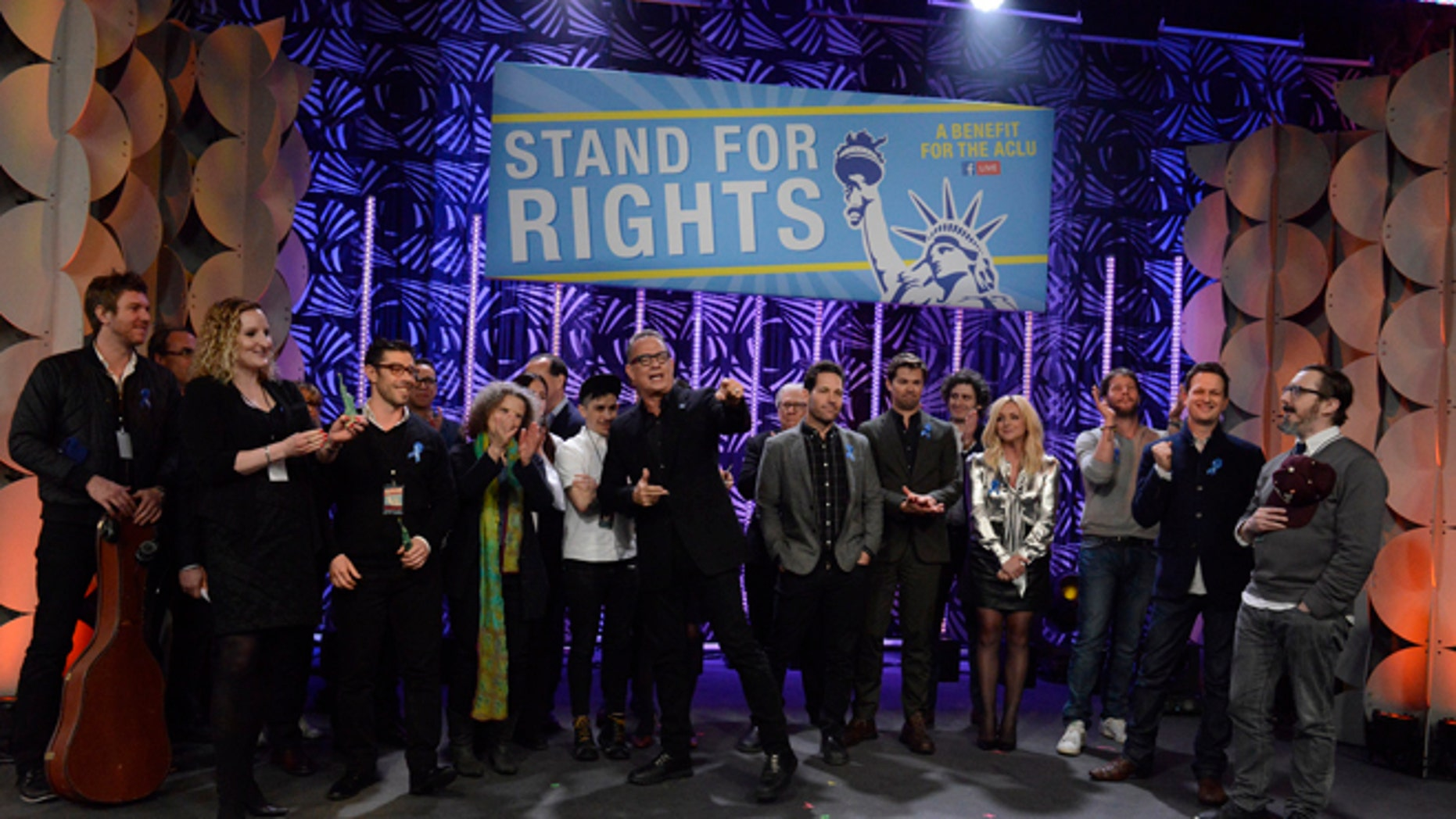 Tom Hanks, Alec Baldwin and other stars joined an online fundraiser for the ACLU.