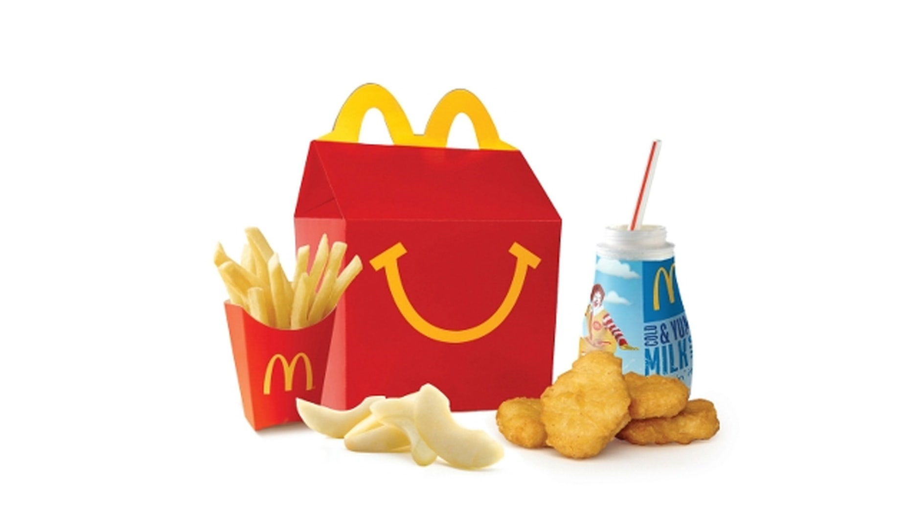 An Alaskan mom posted photos to Facebook showing four chicken nuggets and and a small order of slightly shriveled french fries claiming to be six years old.