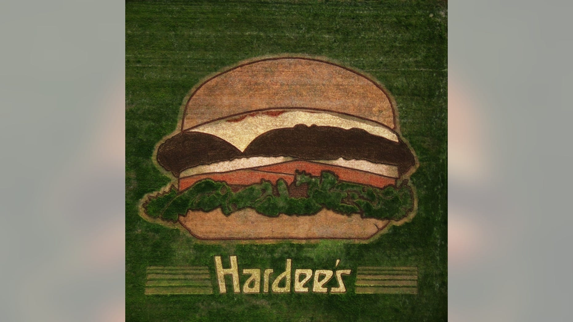 Instead of using a billboard, Hardee's plastered their name and a massive burger across a Nashville field.