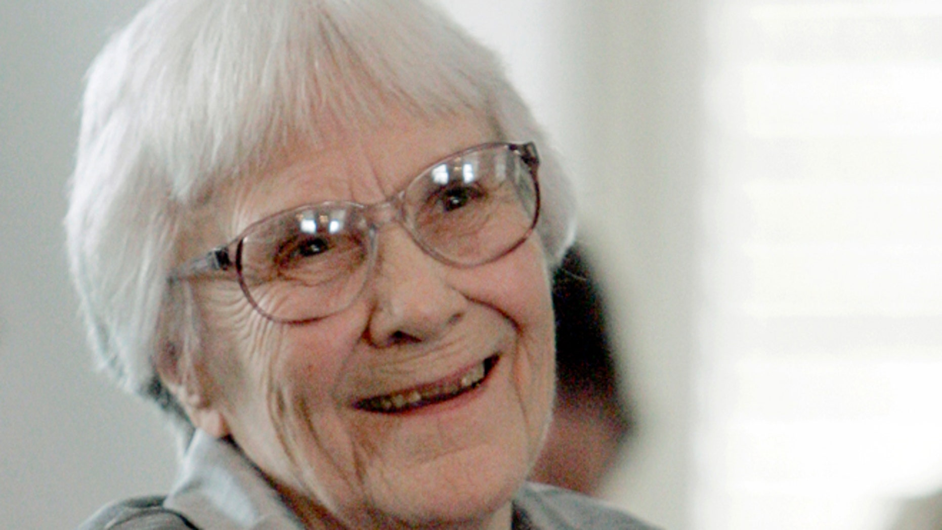 Aug. 20, 2007. Harper Lee smiles during a ceremony honoring the four new members of the Alabama Academy of Honor at the Capitol in Montgomery, Ala.