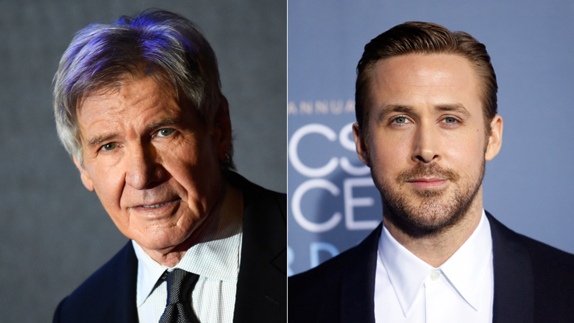 "Harrison Ford, left, Ryan Gosling, starring in new ""Blade Runner 2049"" film"