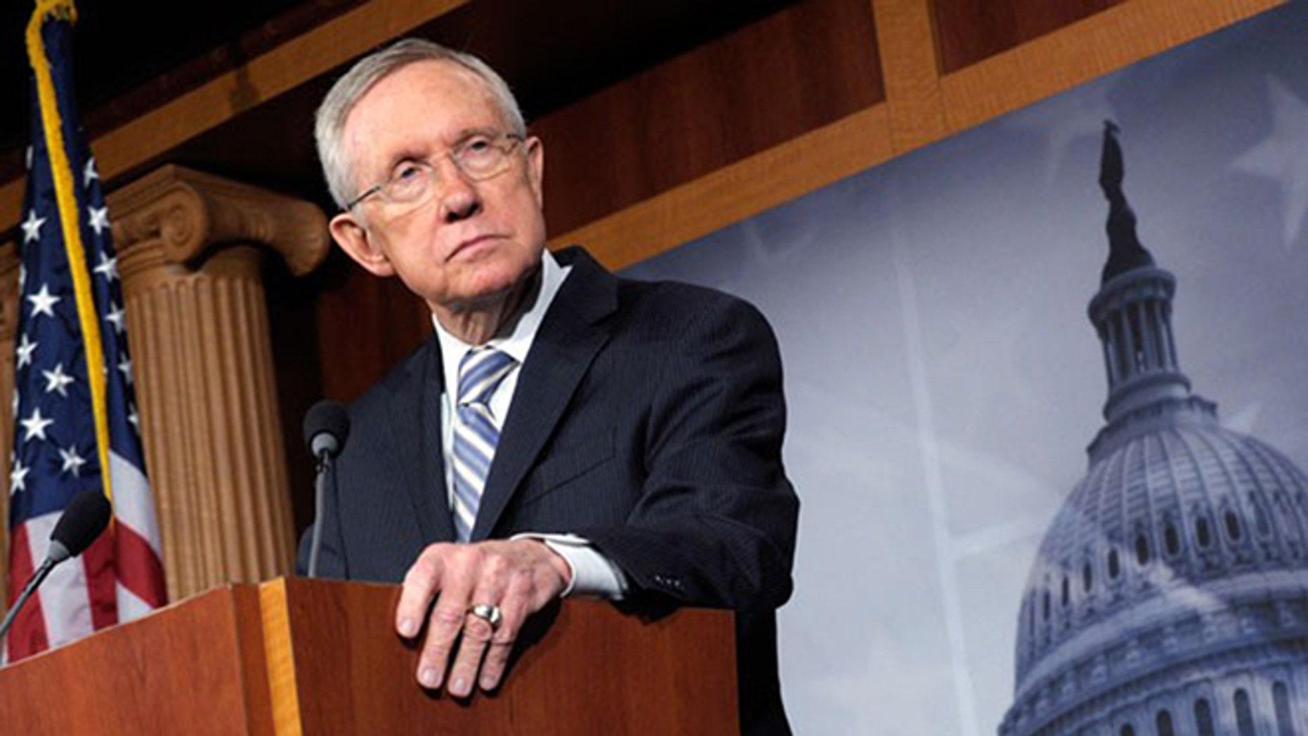 Senate Minority Leader Harry Reid, D-Nev., is shown.
