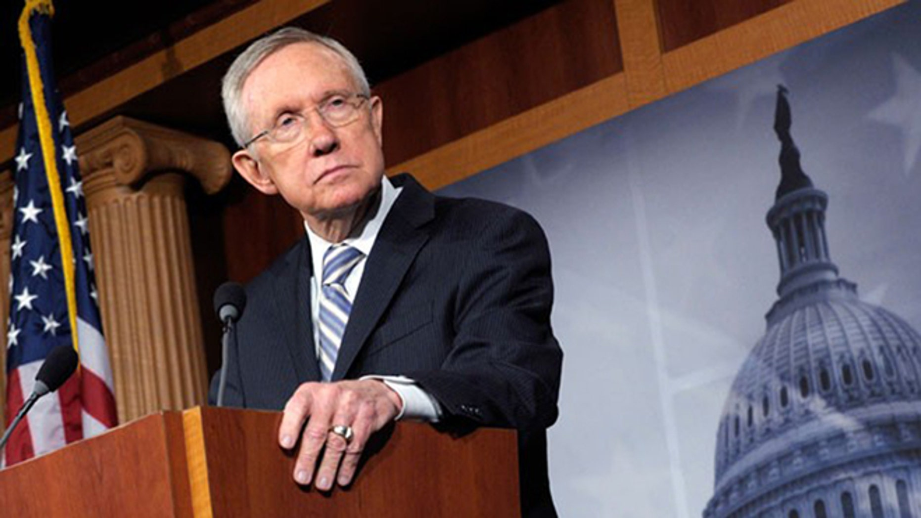 Senate Minority Leader Harry Reid, D-Nev., is shown.