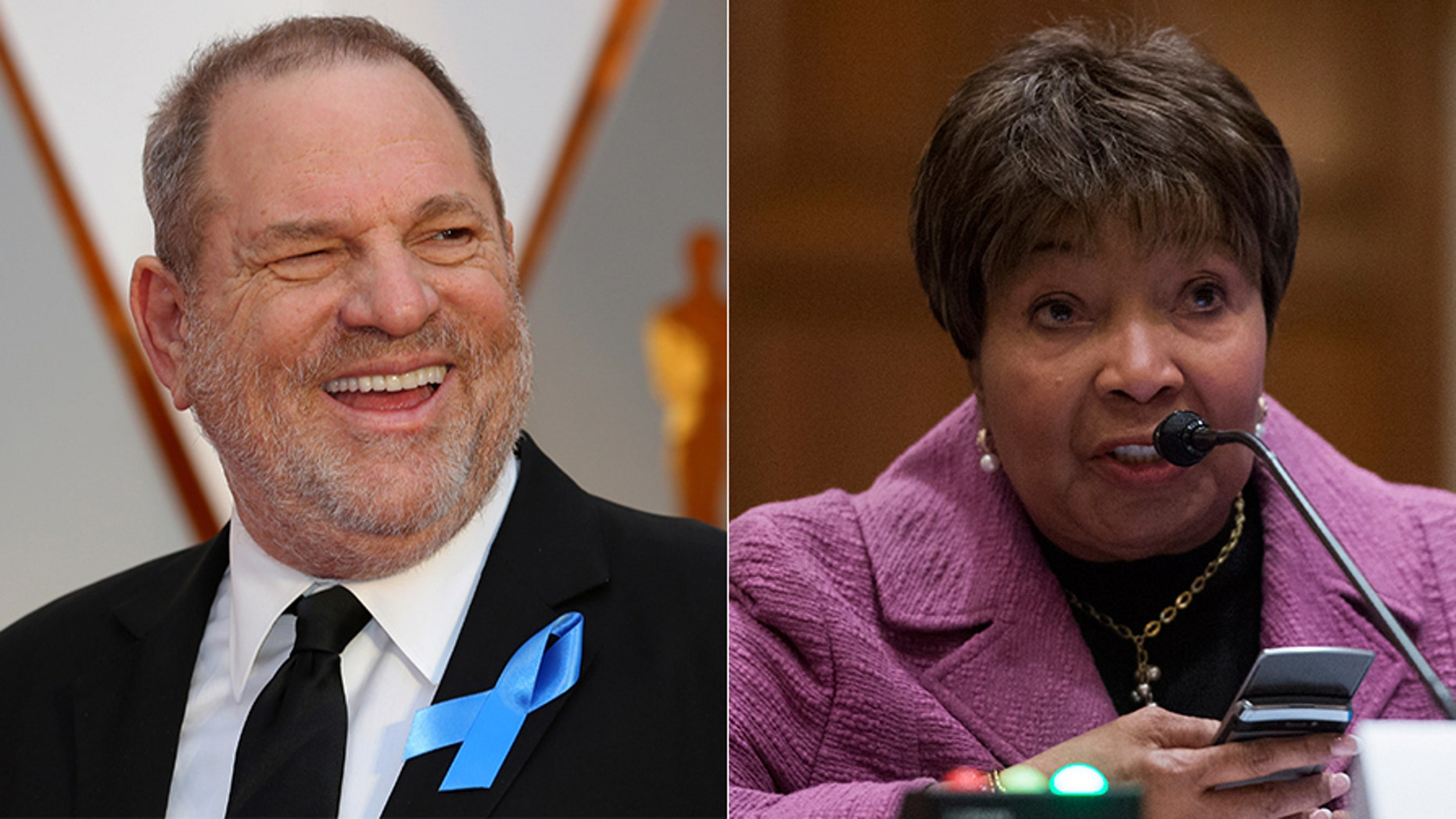 "Asked to comment on the Harvey Weinstein scandal, Rep. Eddie Bernice Johnson, right, told a reporter that women bear a certain ""responsibility"" to watch how they dress, and their behavior."