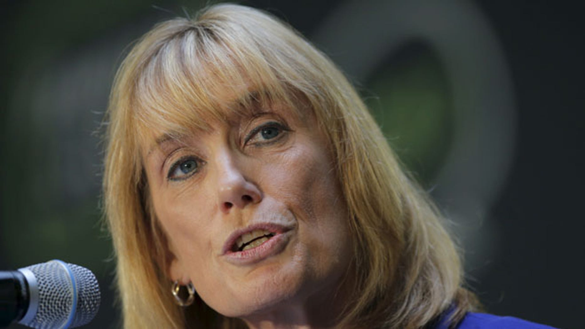 FILE: Oct. 12, 2015: New Hampshire Gov. Maggie Hassan (D) in Manchester, N.H. (REUTERS)