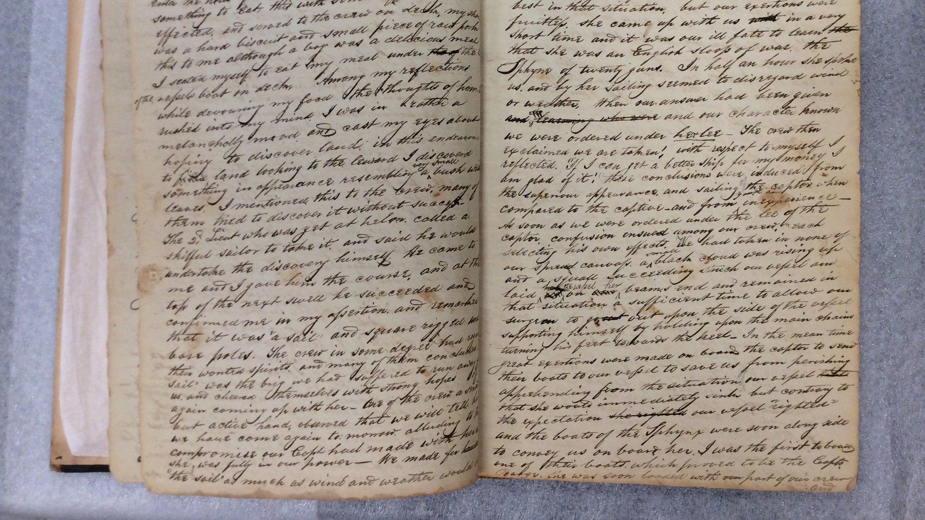 Christopher Hawkins' Revolutionary War journal (Museum of the American Revolution)