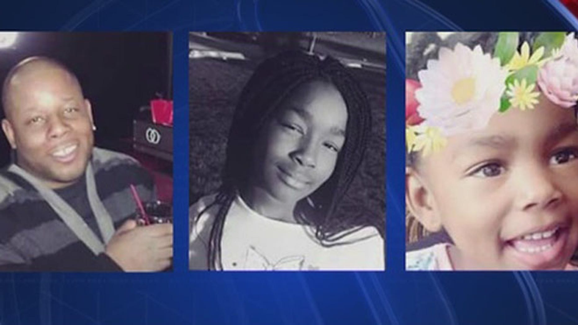Dionus Neely, 39, and his two children, Elle, 10, and India, 3, were killed early Saturday. (Fox 32 Chicago)