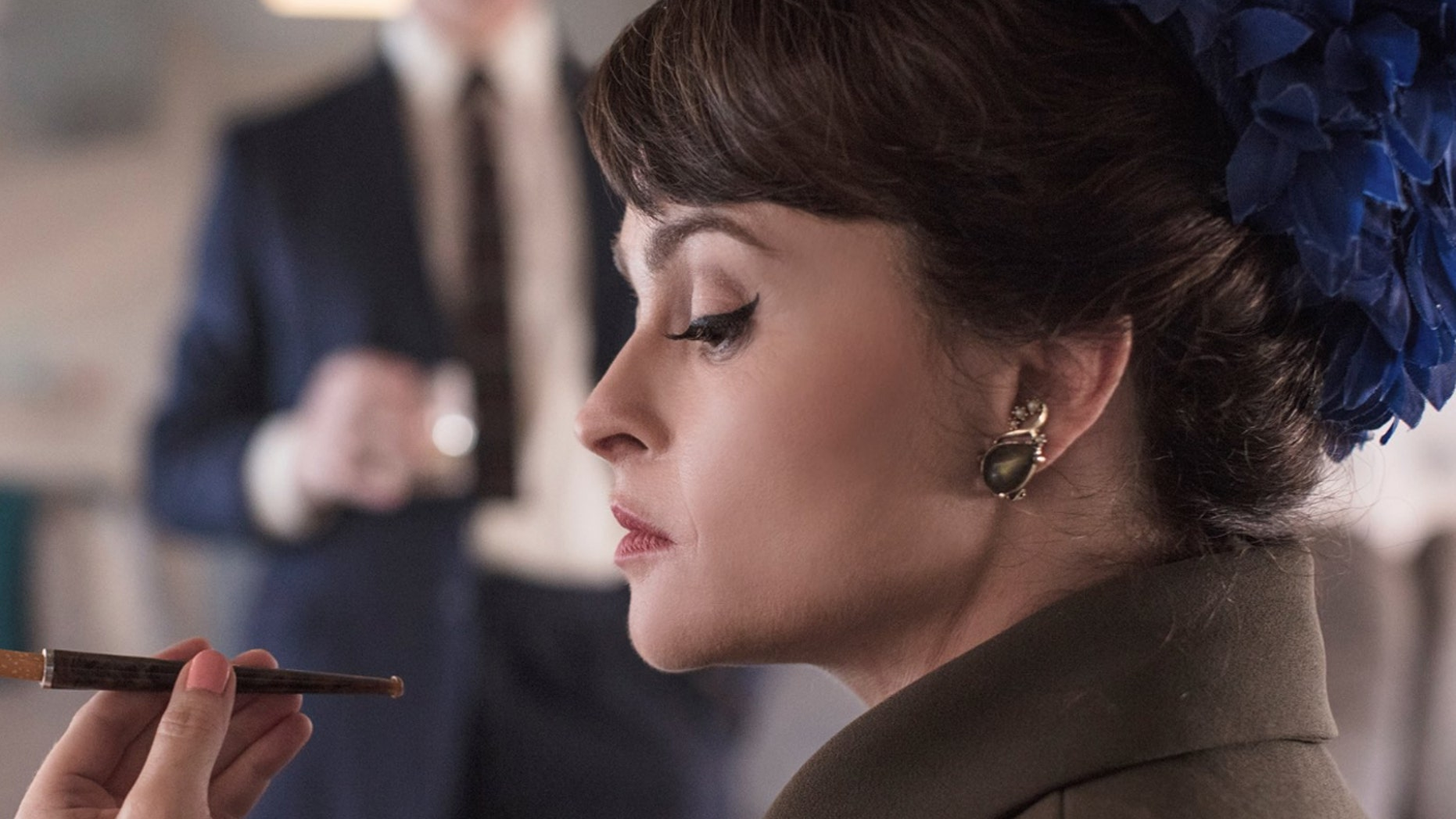 "Netflix reveals the first image of actress Helena Bonham Carter as Princess Margaret in Season 3 of ""The Crown."""