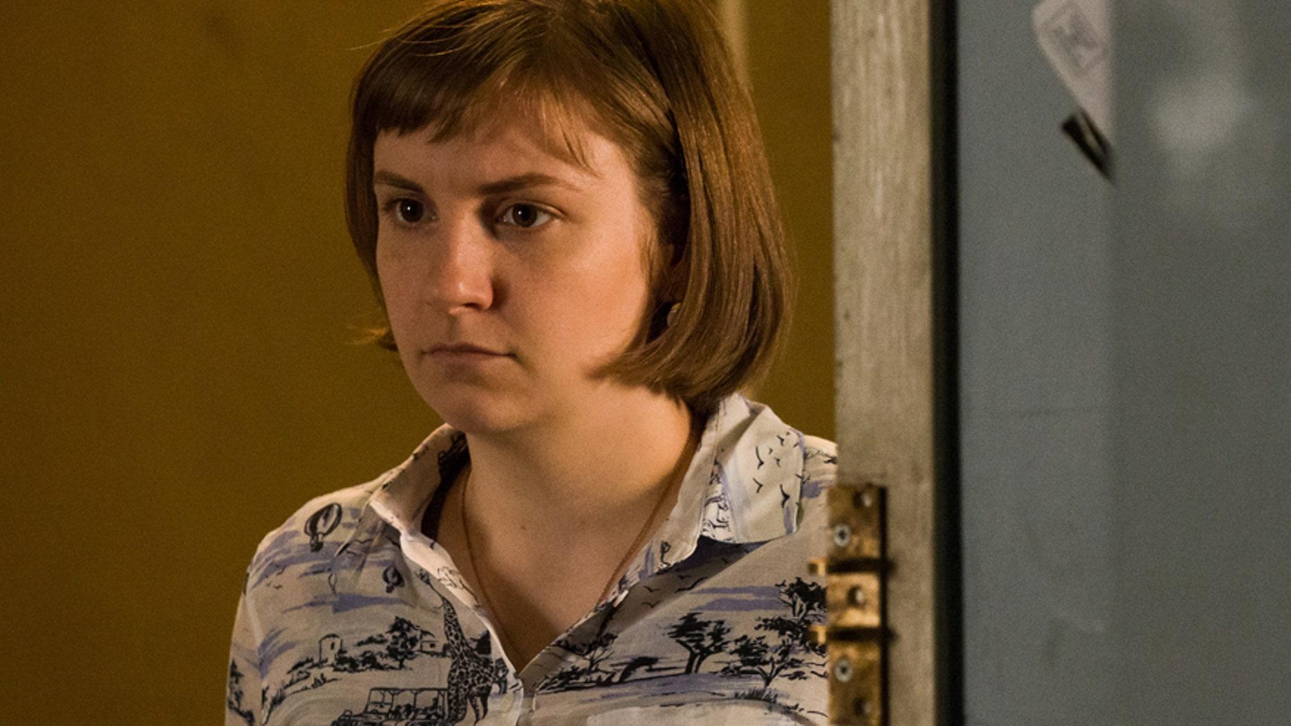 "Lena Dunham in a scene from HBO's ""Girls."""
