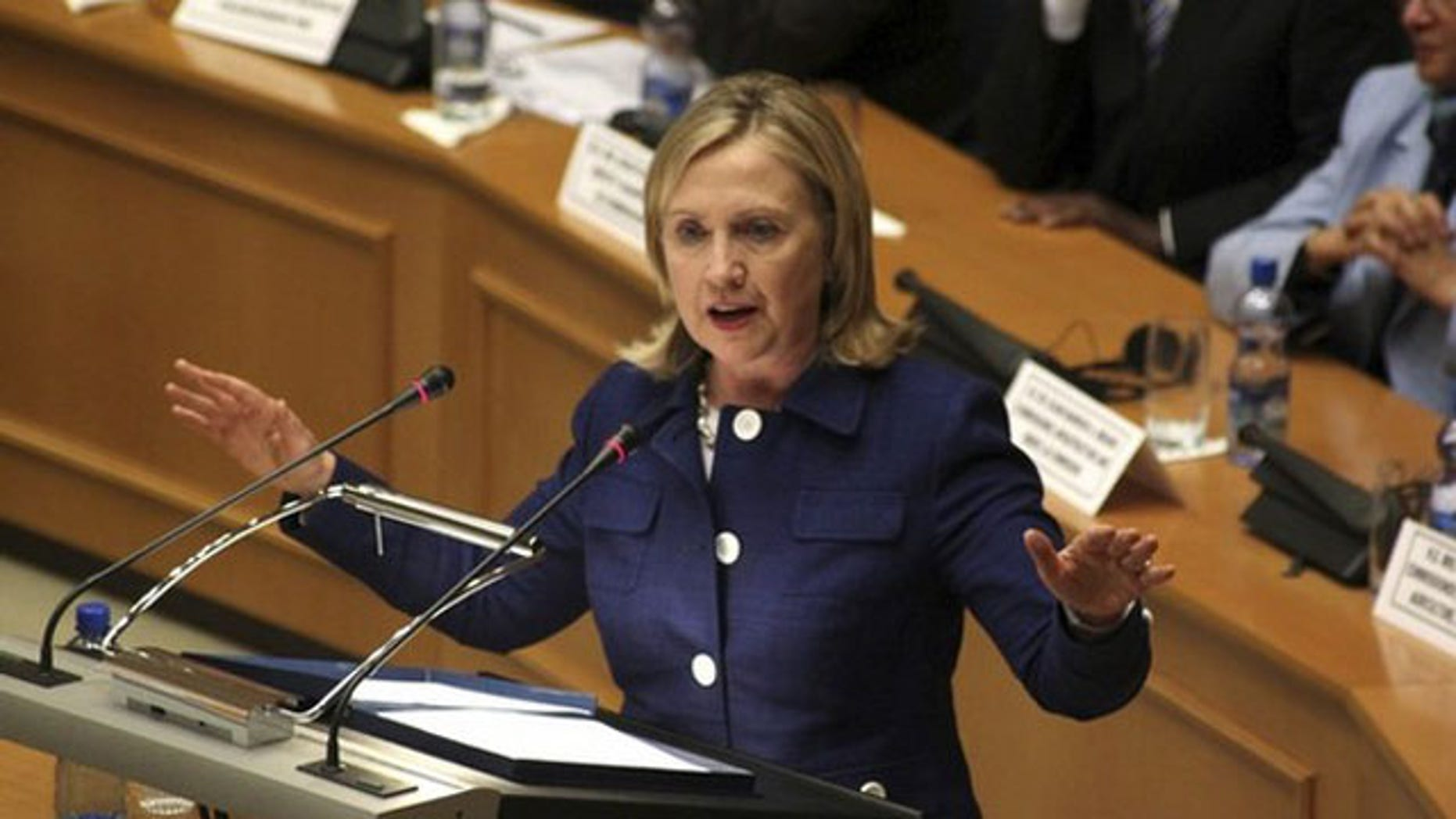 June 13: U.S. Secretary of State Hillary Clinton addresses the 53-member African Union in Ethiopia's capital Addis Ababa.