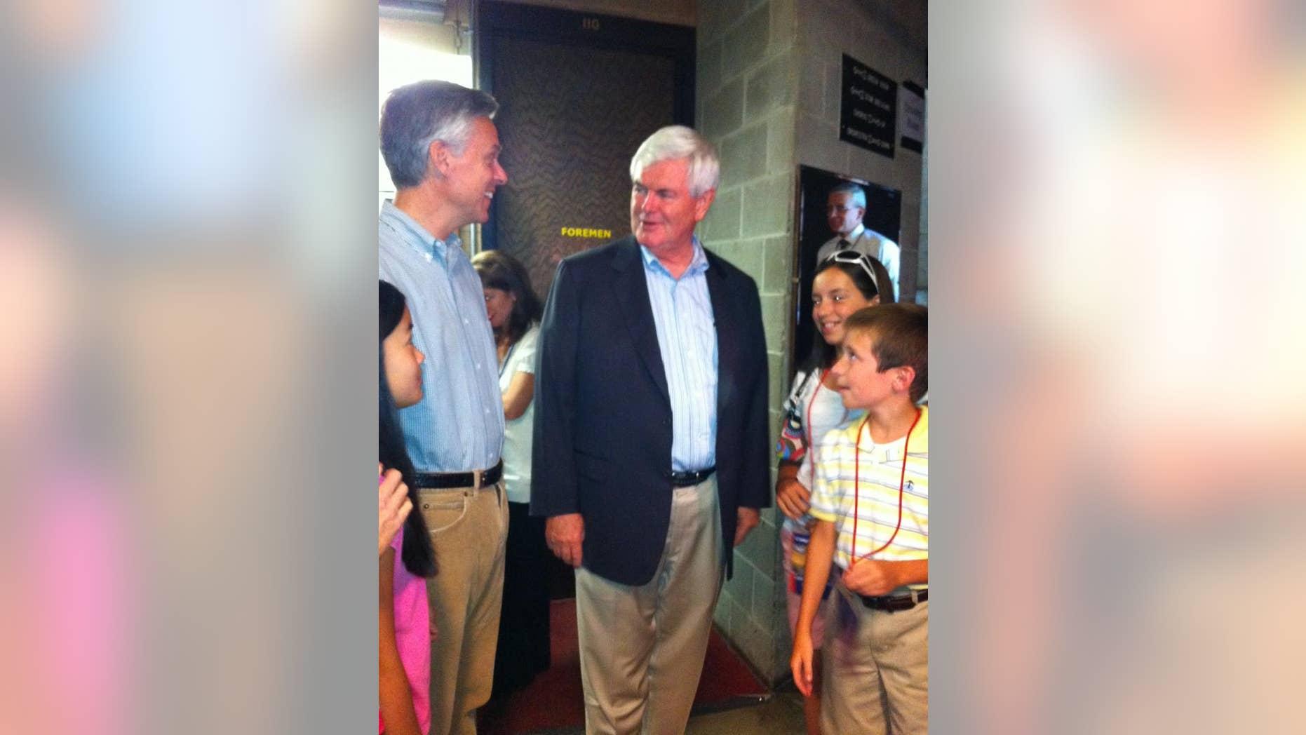 Jon Huntsman and Newt Gingrich Aug 11 (FOX News)