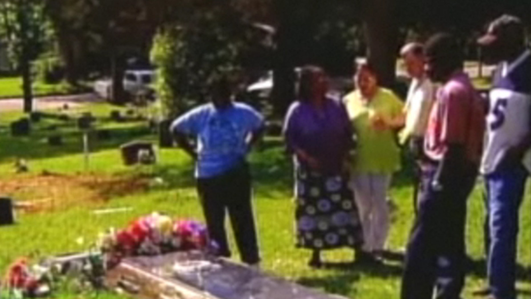 Shown here is the grave of James Byrd Jr., who was dragged to death in Jasper, Texas, by white supremacists 12 years ago. Somebody tried to sell dirt from his grave online. (MyFoxHouston)