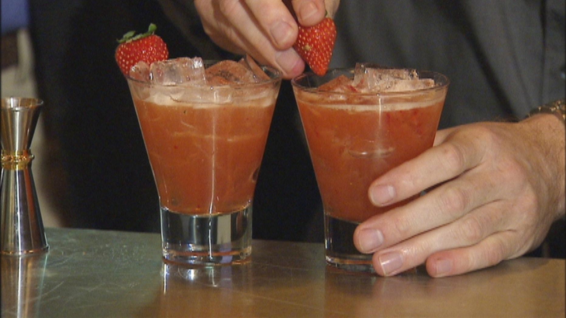 The Dandy: 2 oz Wild Turkey bourbon, ¾ oz cinnamon honey, ½ oz fresh lemon, ¼ oz Antica vermouth, 1 muddled strawberry, Palo mamajuana (optional). Shake served in a high ball glass. Garnish with Strawberry.