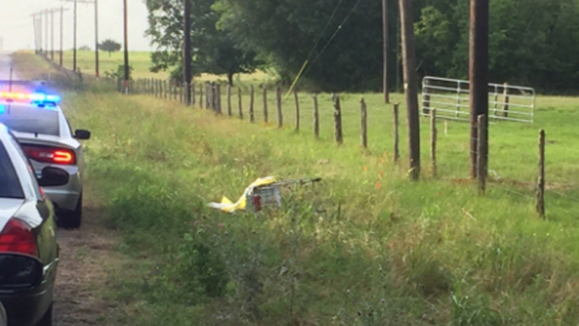 Texas deputies found a body and the gurney it was on in a ditch after the theft of a funeral home vehicle Friday.