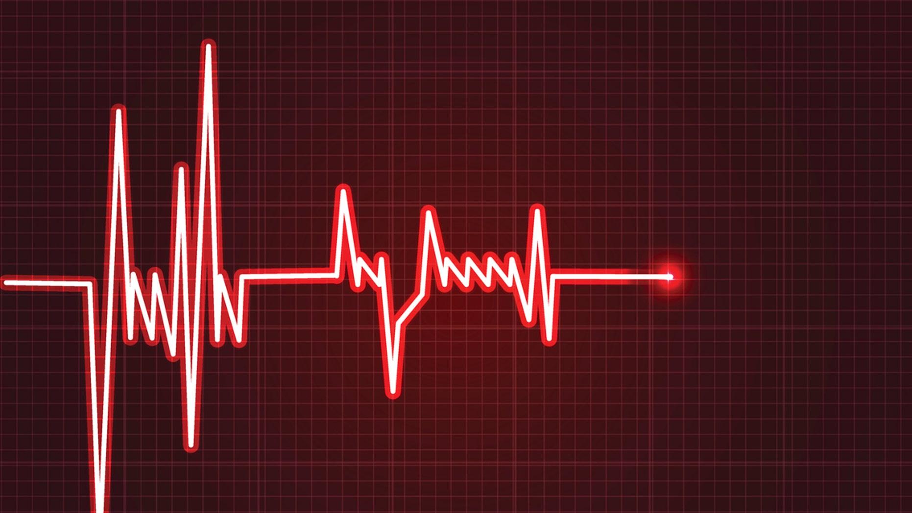 Electrowave heart beat, cardiogram. Pulse vector illustration. eps 10 vector illustration