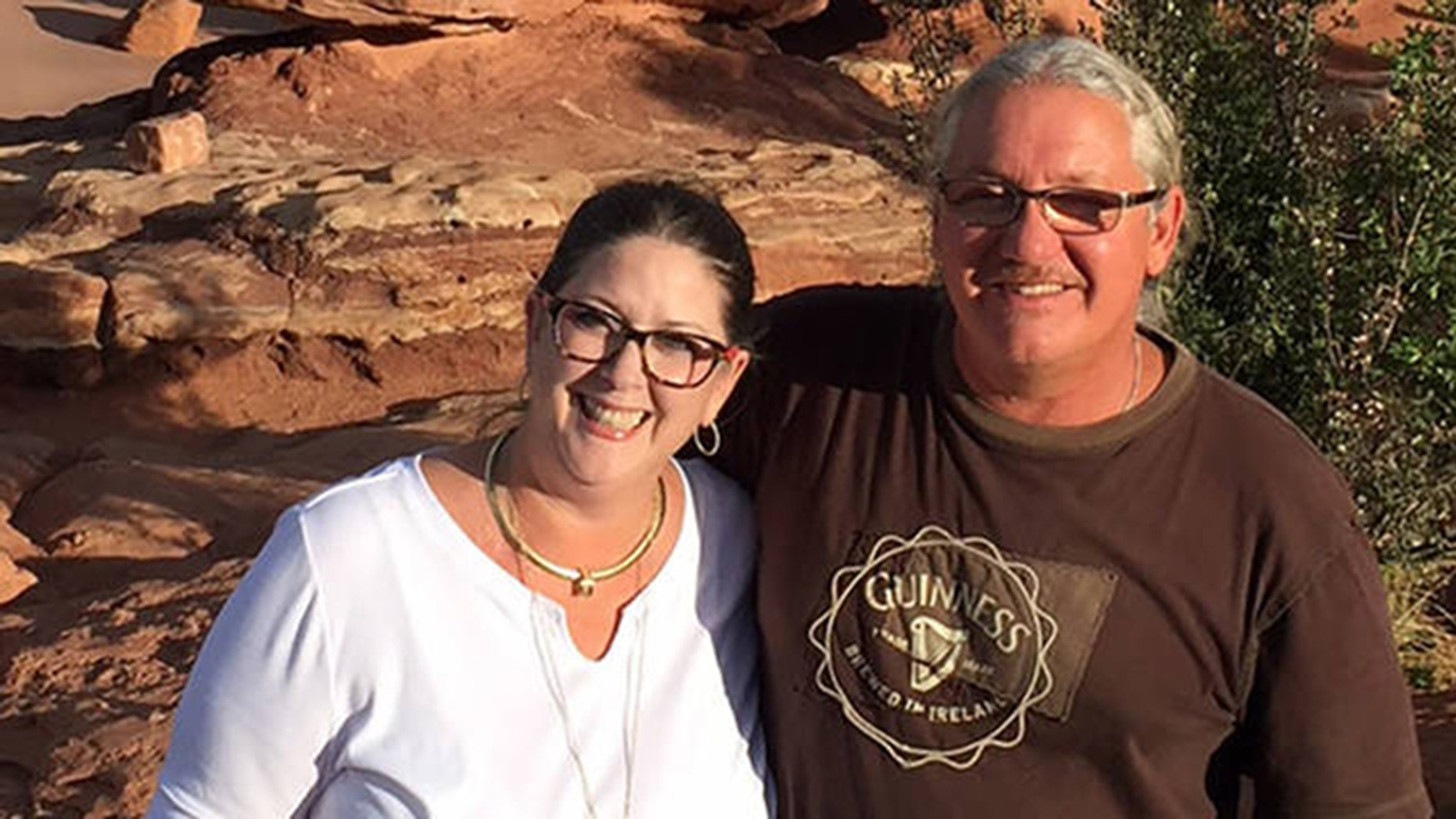 Brenda Reichel, left, said her boyfriend, Sean Shields, right, suffered a massive heart attack Saturday after residents were falsely told a ballistic missile was headed toward the state.