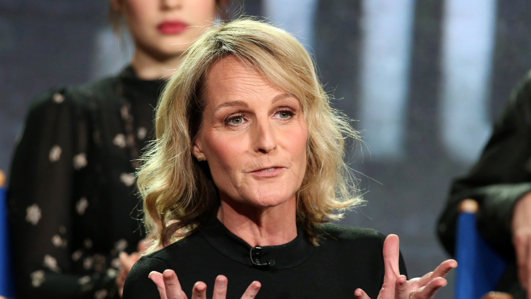 """Actress Helen Hunt speaks about the Fox television show """"Shots Fired"""" during the TCA presentations in Pasadena, California, U.S., January 11, 2017. REUTERS/Lucy Nicholson - RTX2YKCQ"""