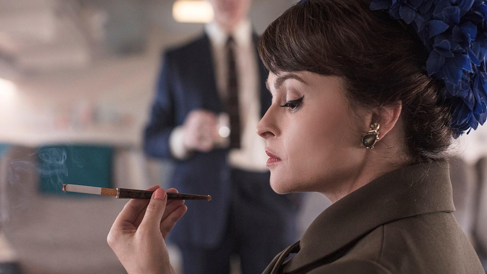 "British actress Helena Bonham Carter as Princess Margaret in ""The Crown."""