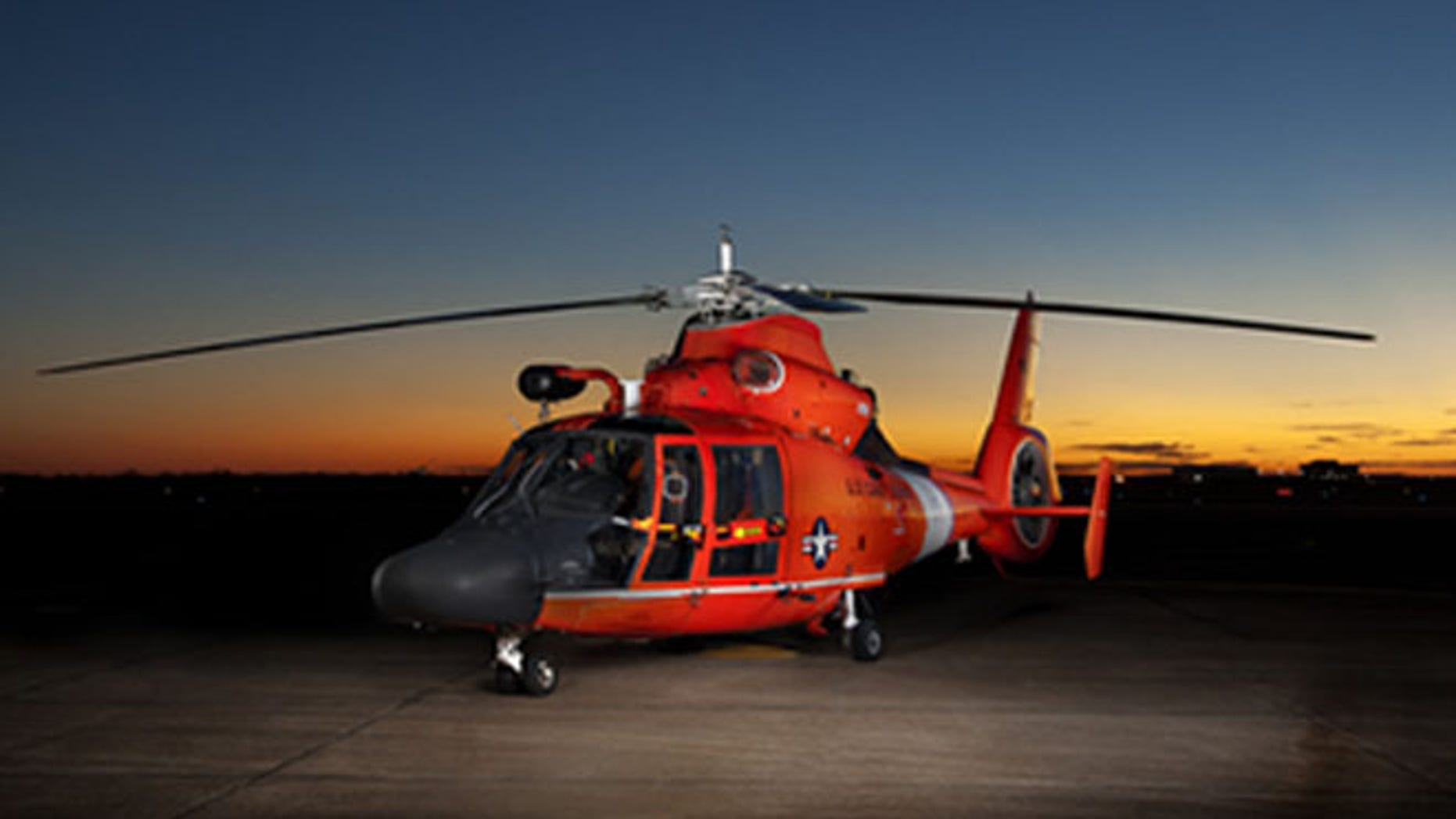 A staff member from Rep. Duncan Hunter's office learned that a laser system on the Coast Guard's MH-65 helicopter is not in use due to FDA regulations.