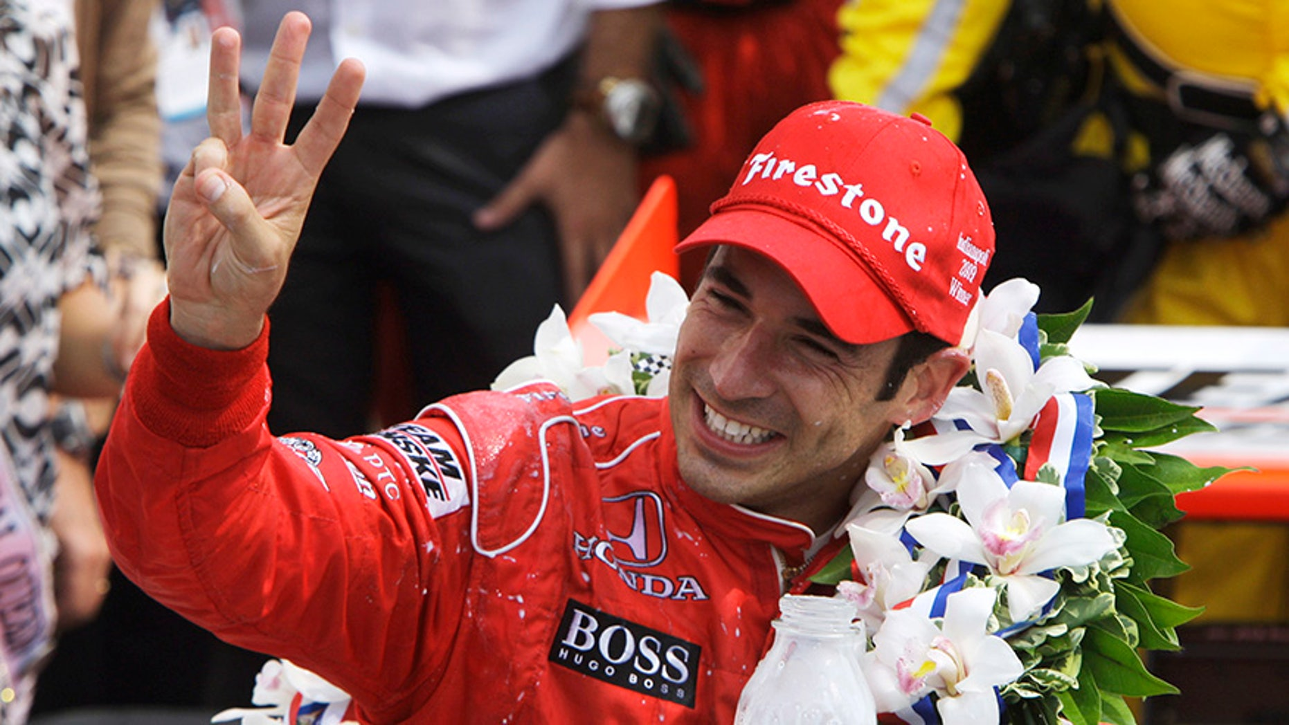 Helio Castroneves is on of seven drivers who have won the Indy 500 three times