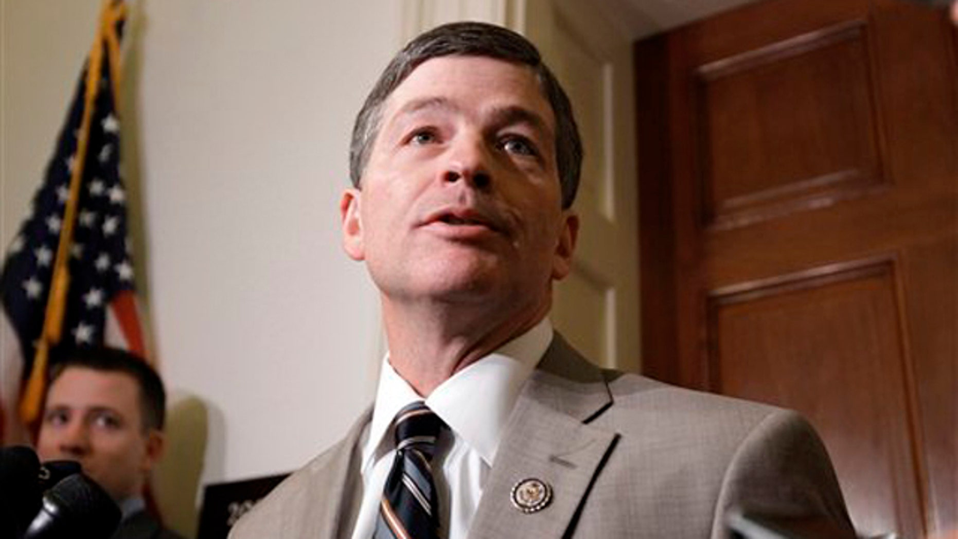 Nov. 18, 2011: Rep. Jeb Hensarling, co-chairman of the Super Committee, talks to reporters on Capitol Hill.