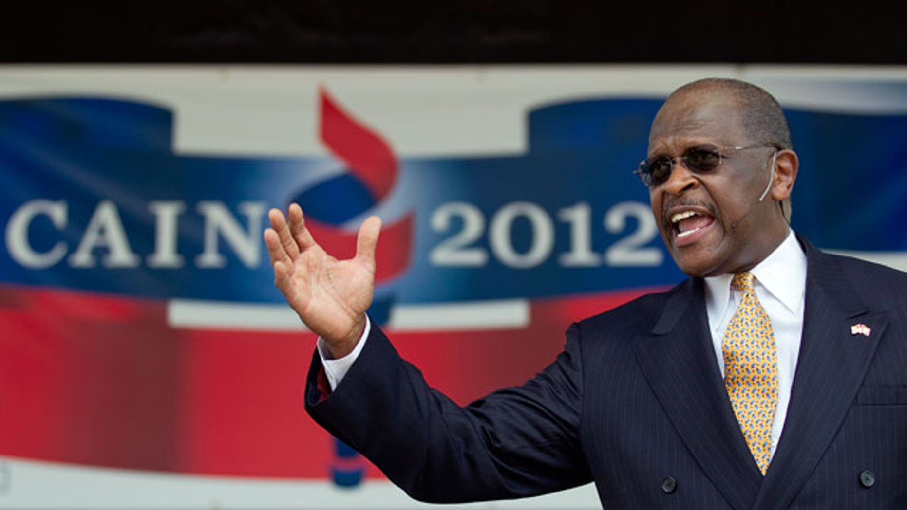 Herman Cain announces his run for Republican candidate for president at a rally Saturday, May 21, 2011 in Atlanta. (AP)