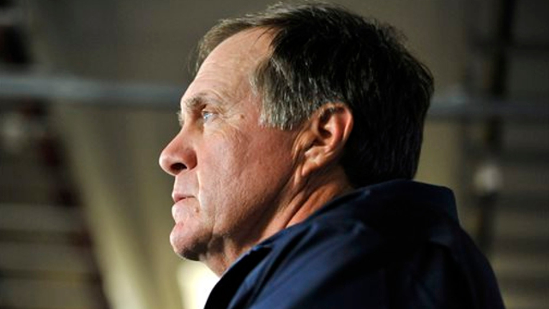 July 24, 2013: New England Patriots NFL football head coach Bill Belichick speaks to reporters in Foxborough, Mass.