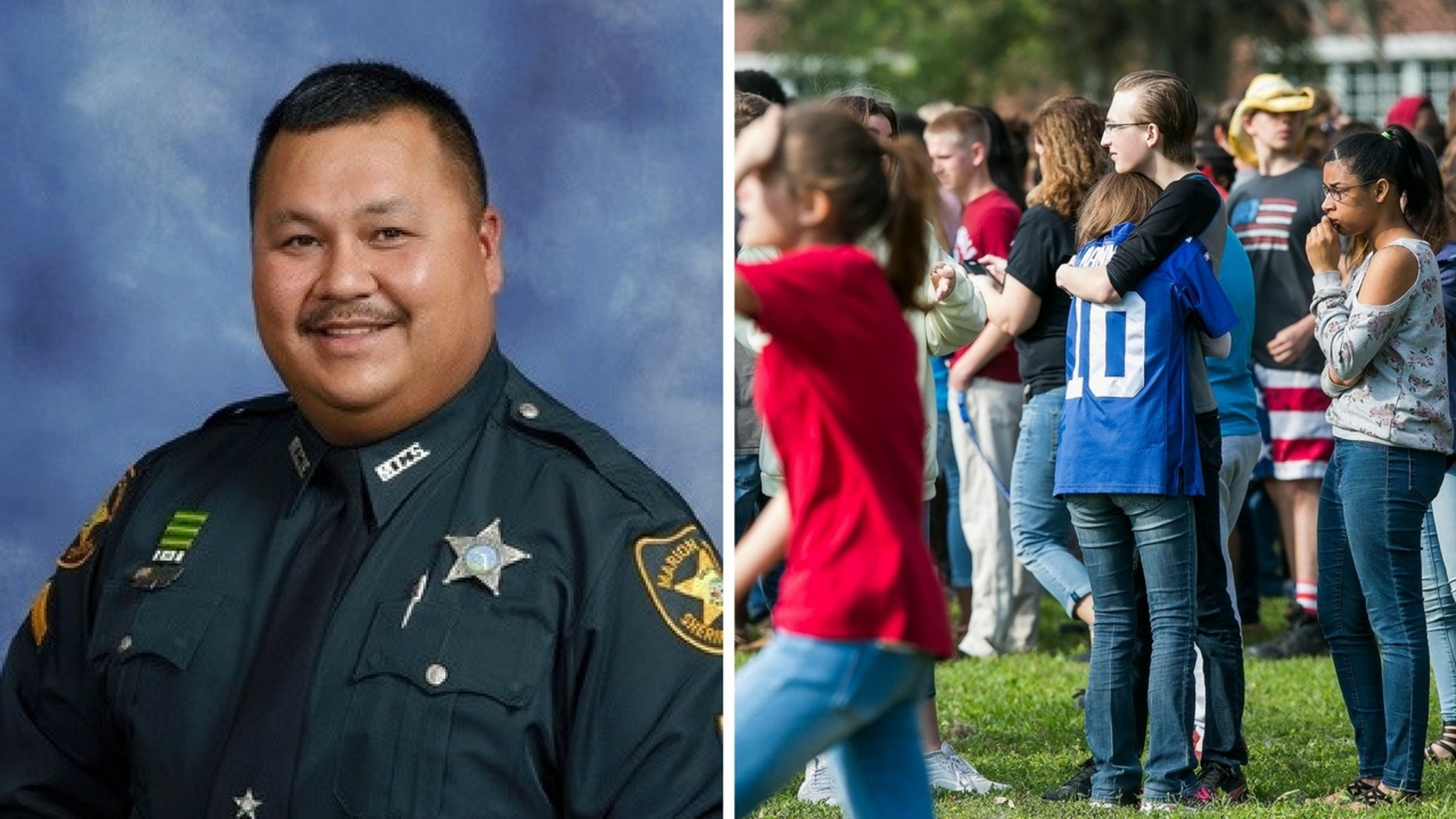 """Sheriff James """"Jimmy"""" Long was hailed a hero for his quick response to a shooting at a Florida high school."""