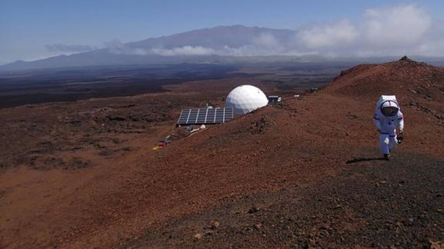 A view of the HI-SEAS habitat on the island of Hawai'i, where six crew members will spend a year in isolation. The experiment is meant to test the social and psychological effects of a real Mars mission.