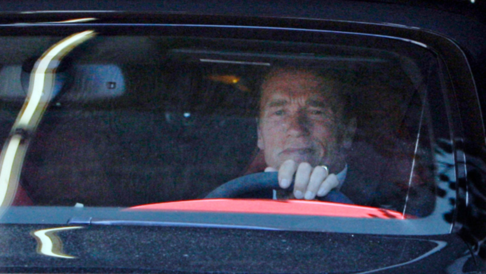 Former California Governor Arnold Schwarzenegger leaves his office Tuesday May 17, 2011 in Santa Monica, Calif.