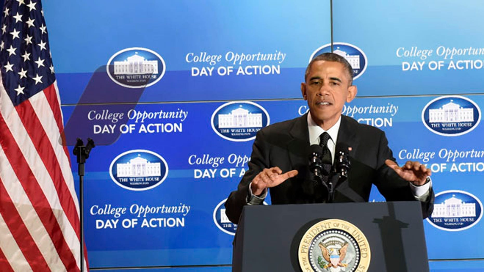 Dec. 4, 2014: President Obama speaks at the Summit on College Opportunity at the Ronald Reagan Building in Washington.