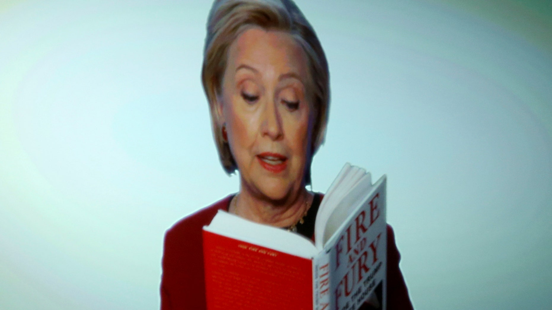 Hillary Clinton emerged from the woods of Chappaqua, New York to crack a joke at President Trump's expense during Sunday night's Grammy Awards.