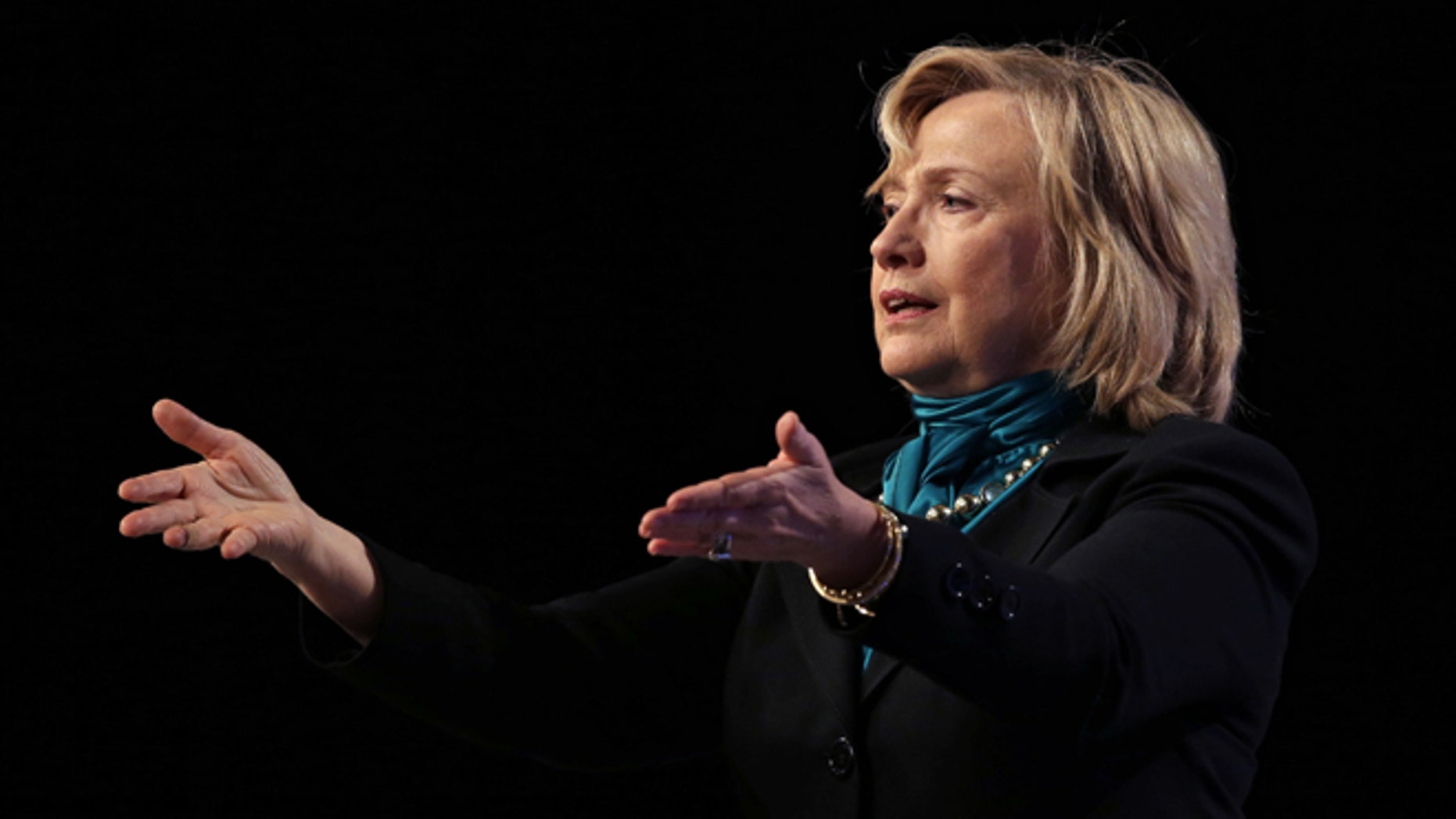 Jan. 27, 2014: Former Secretary of State Hillary Rodham Clinton speaks to the National Automobile Dealers Association meeting in New Orleans.