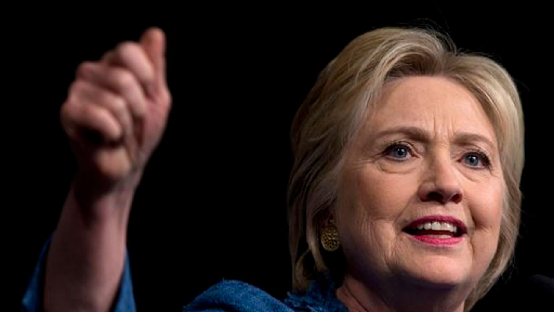 Democratic presidential nominee, Hillary Clinton.