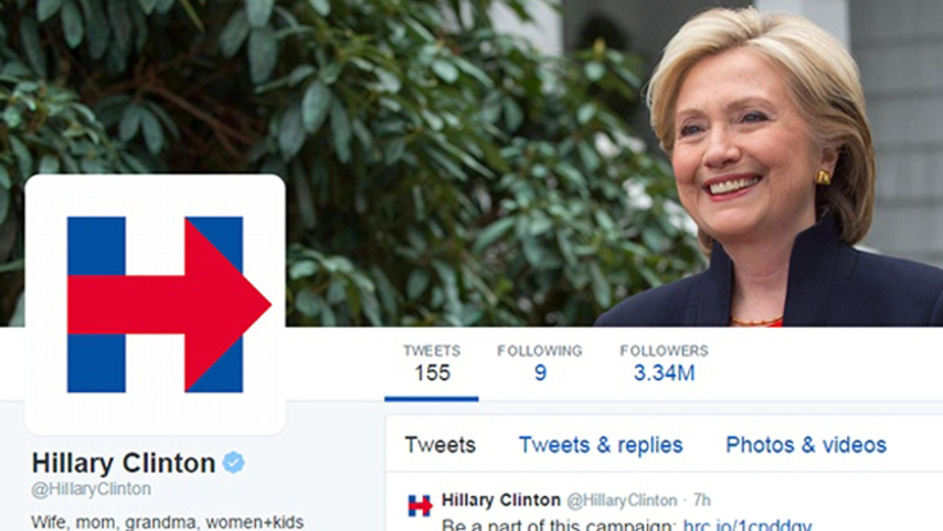 Former Secretary of State Hillary Clinton's logo has been likened to a traffic sign and the Wikileaks emblem.