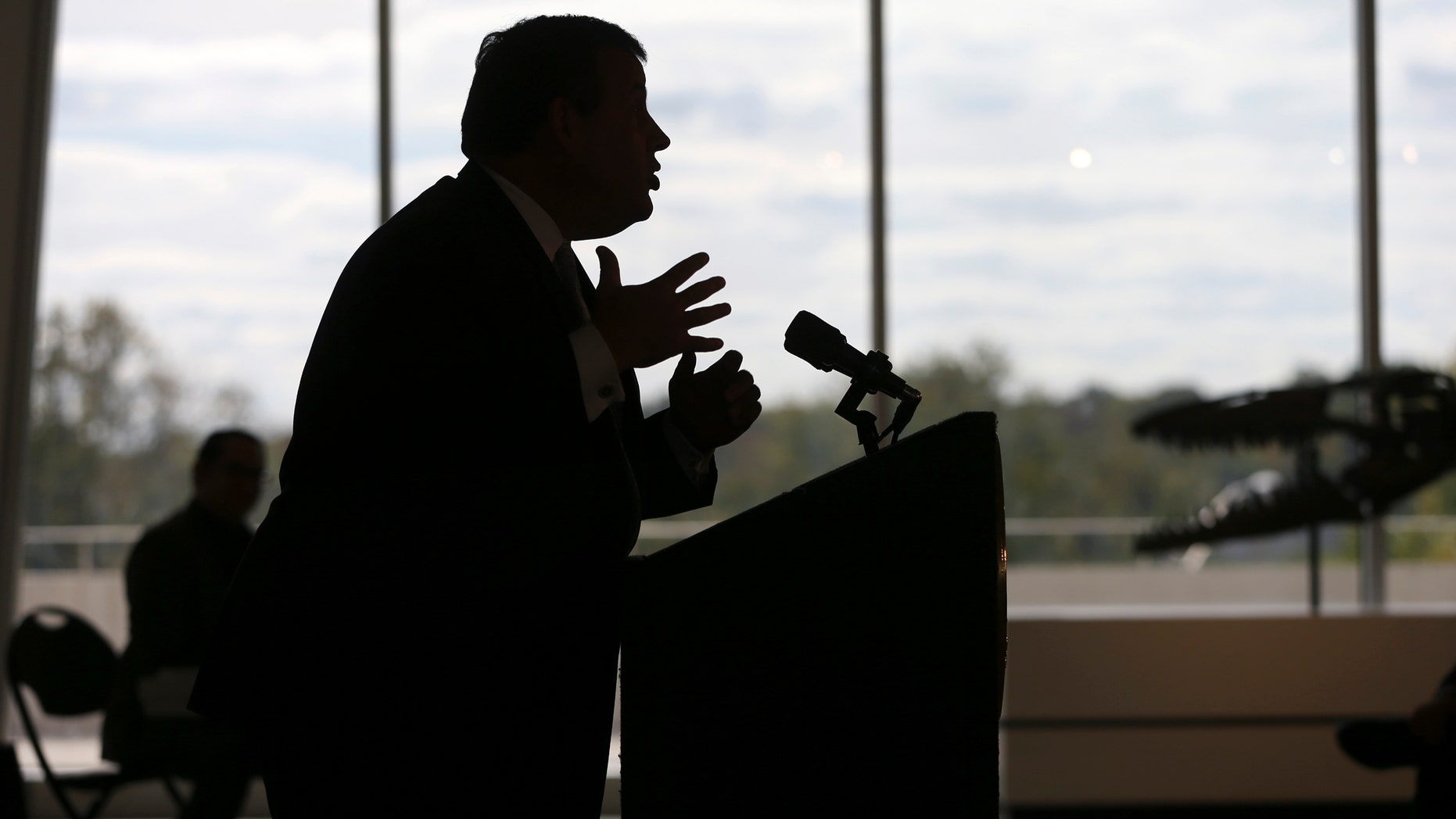 Oct. 12, 2016: New Jersey Gov. Chris Christie addresses a gathering at the New Jersey State Museum during a Hispanic Heritage Month event Wednesday in Trenton, N.J.