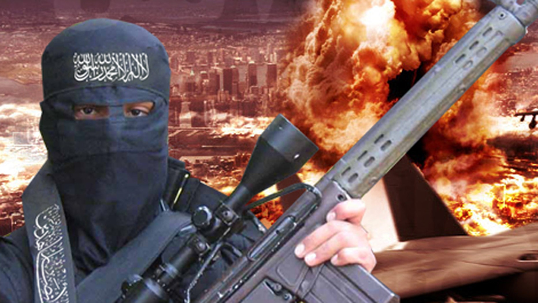 Shown here is an image from the Shumukh forum, an Al Qaeda-linked website.