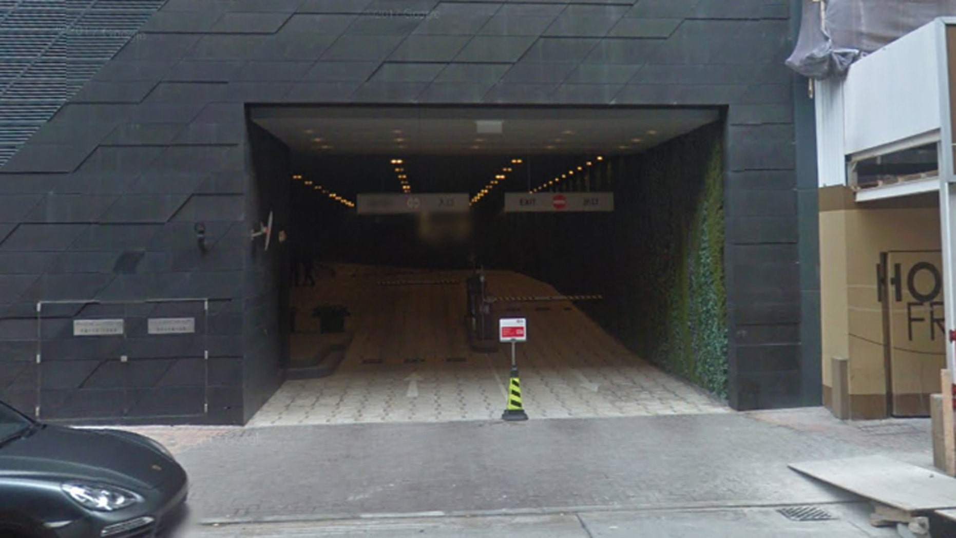 Entrance to The Upton garage