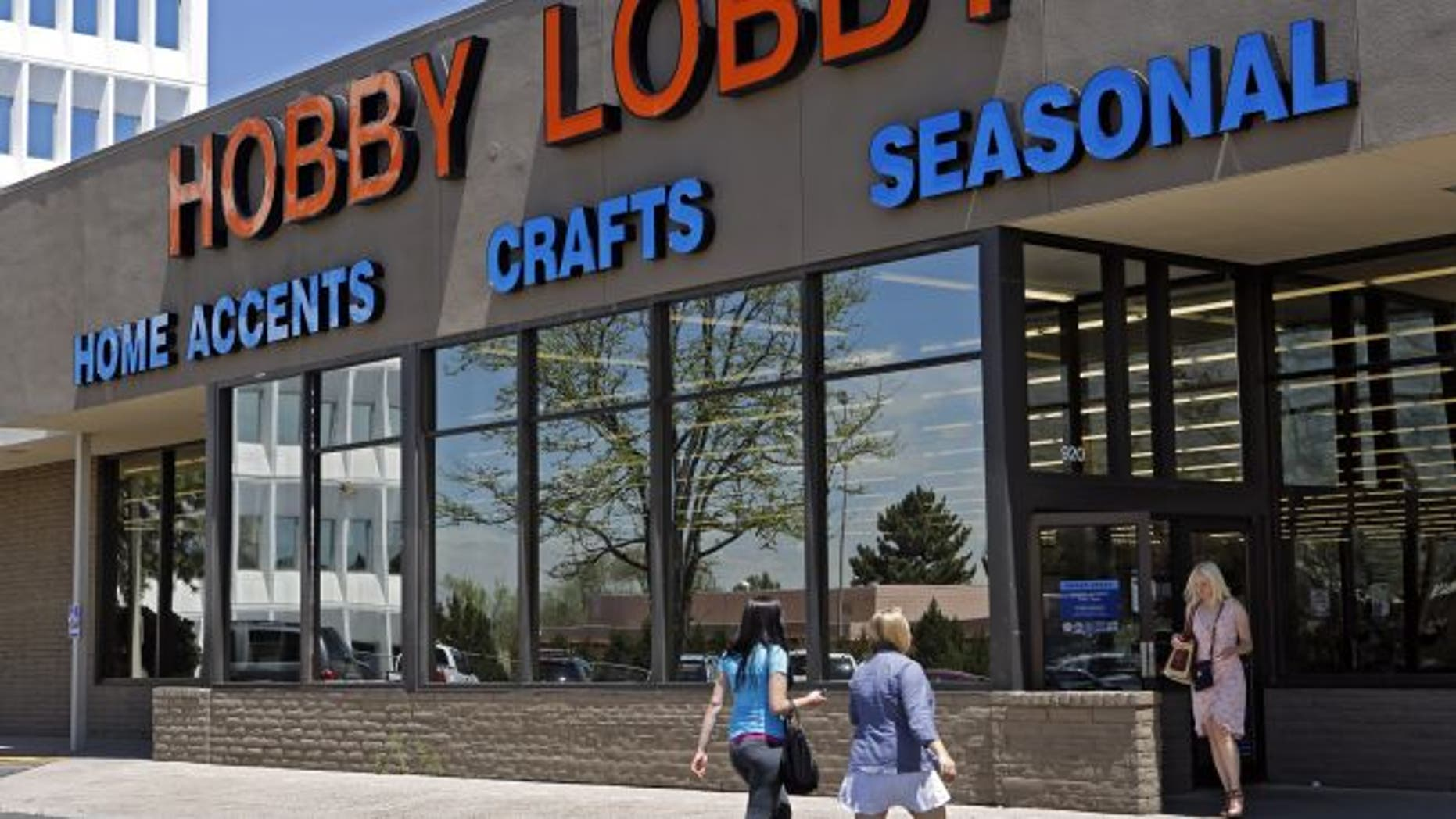 May 22, 2013: Customers are seen at a Hobby Lobby store in Denver.