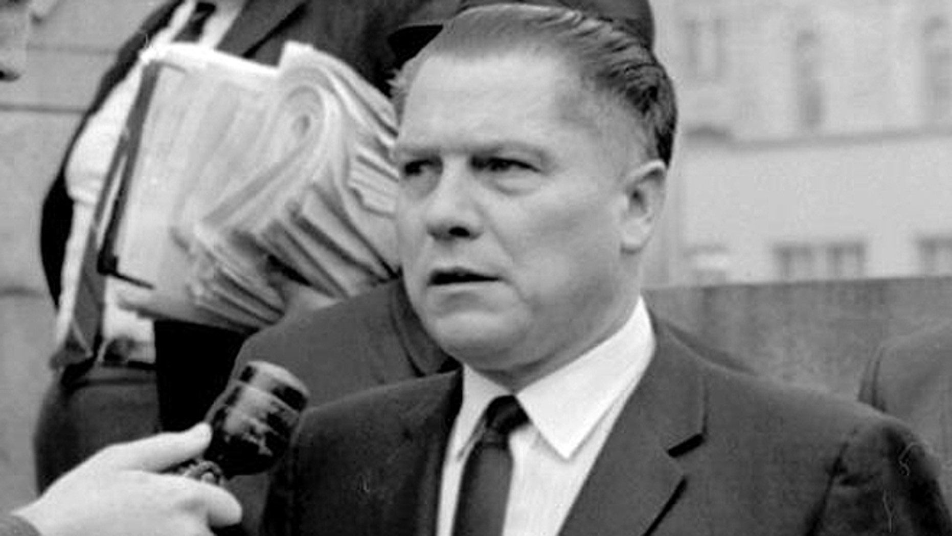Labor leader Jimmy Hoffa, who was 62 at the time, disappeared in July 1975. He was declared legally dead in 1982. (AP)