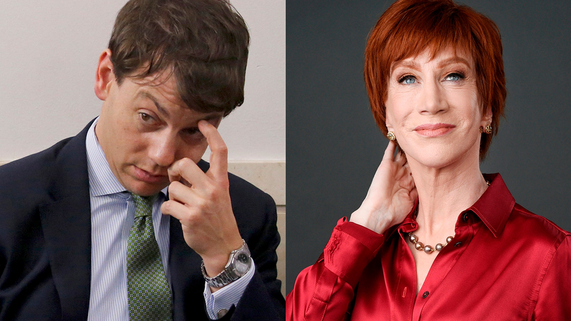 Kathy Griffin reportedly engaged in an expletive-filled attack against Deputy White House Press Secretary Hogan Gidley at the White House Correspondents' Dinner on Saturday.