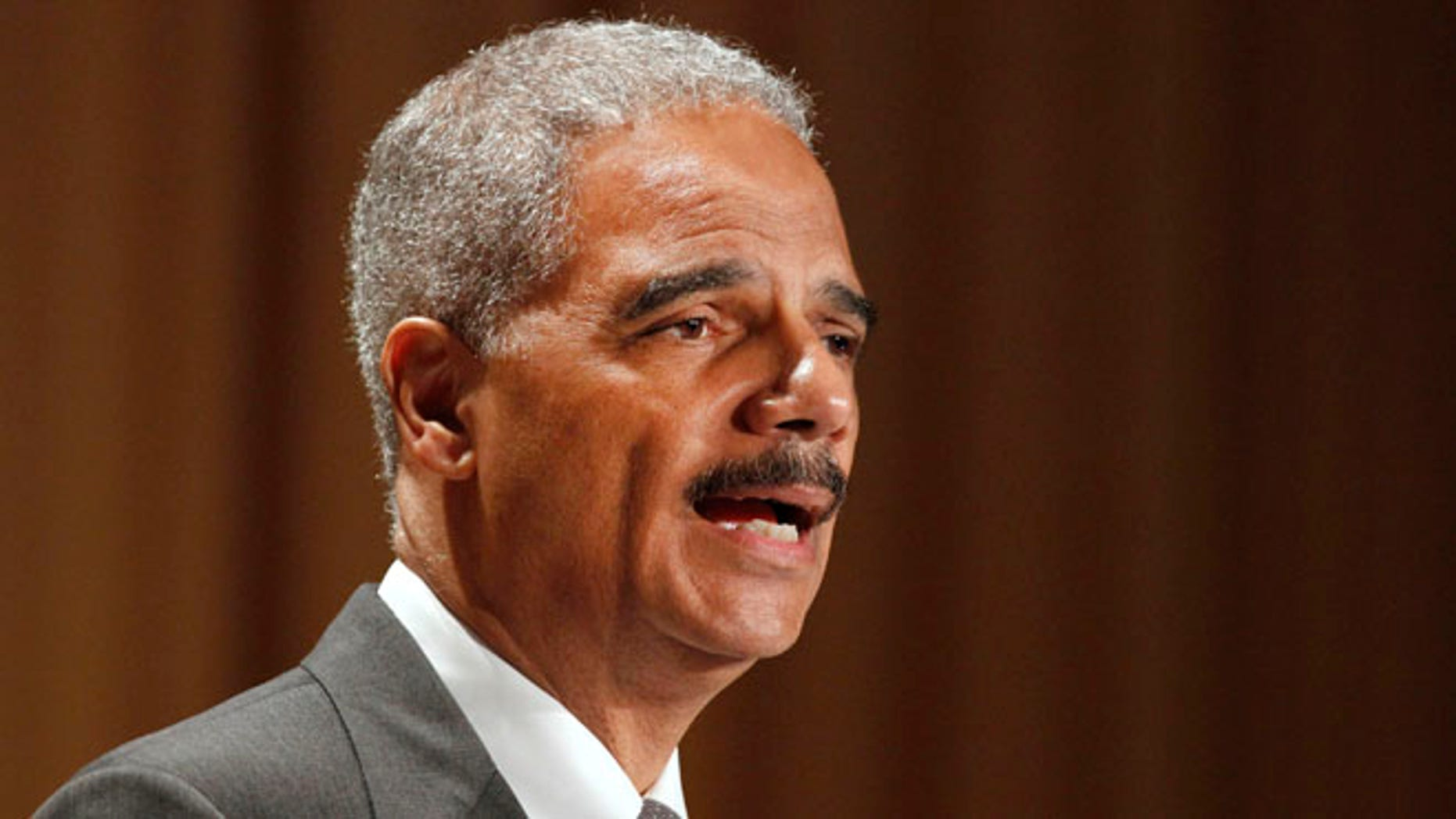 June 11, 2012: Attorney General Eric Holder speaks at the League of Women Voters National Convention in Washington.