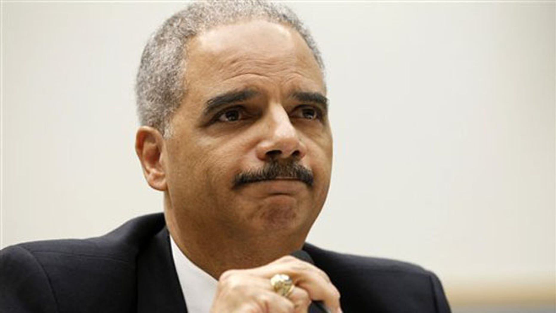June 7, 2012: Attorney General Eric Holder testifies on Capitol Hill in Washington.